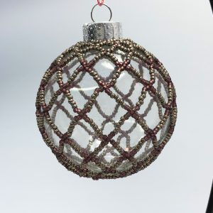 Purple Beaded Christmas decoration