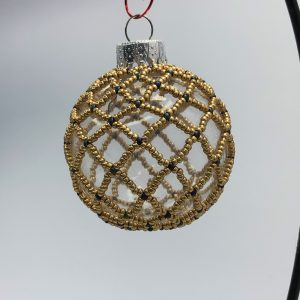 Gold Victorian Style Beaded Bauble