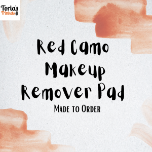 Red Camo Cotton Makeup Remover Pad