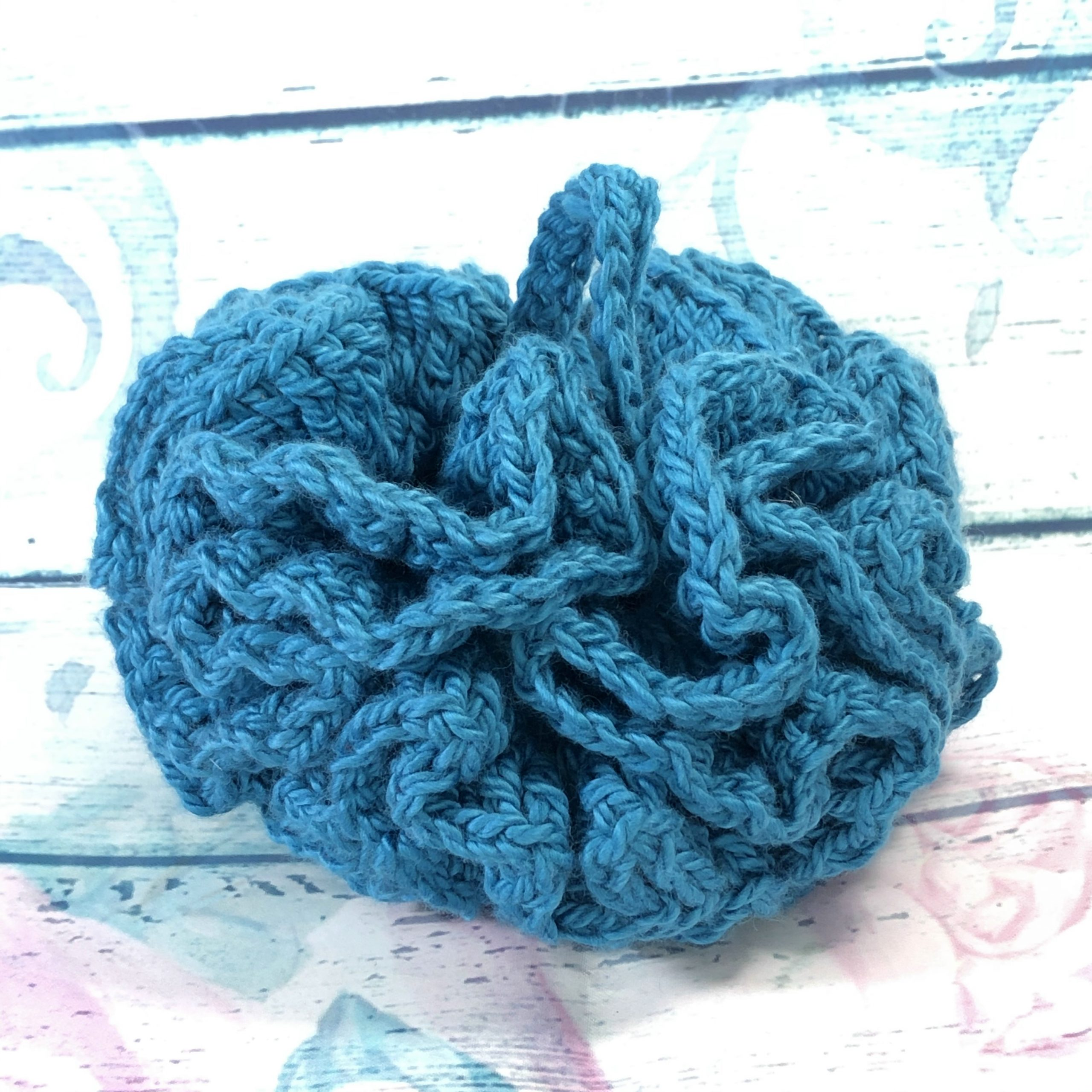 Turquoise Reusable Shower Puff