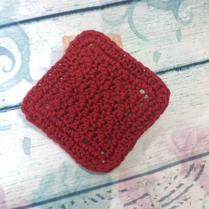 Red Cotton Makeup Remover Pad