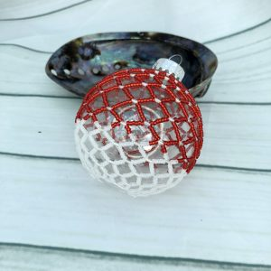 Red and White Christmas Bauble
