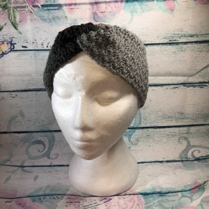 Grey Mix Twisted Knot Ear Warmer