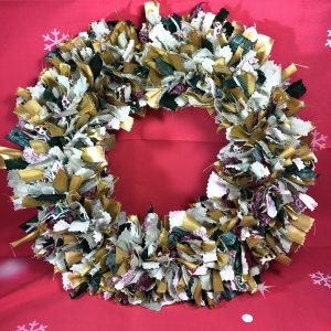 Green and Gold Christmas Wreath Large