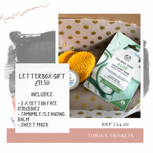 Letter Box Gift Set - Face scrubbies Luxury